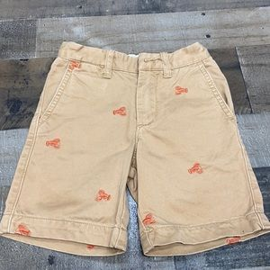 Crewcuts Lobster Chinos Shorts Boys Size 5 Khaki